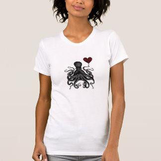 Steampunk Octopus retro Kraken Love! Heart gear Shirts