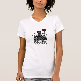 Steampunk Octopus retro Kraken Love! Heart gear T-Shirt