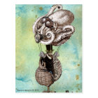 Steampunk Octopus Seacraft Postcard