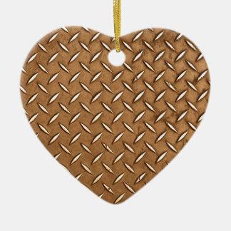 Steampunk Old Brass Plating Metal Effect Ceramic Heart Decoration