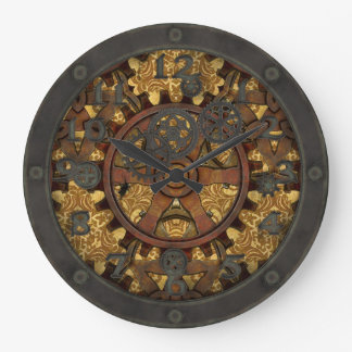 Steampunk Ornate Cog with Face Wallclock