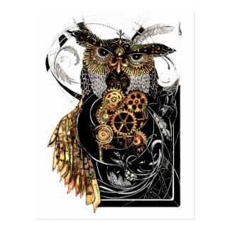 Steampunk Owl Postcard