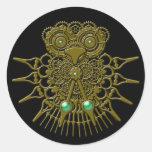 Steampunk Owl Stickers