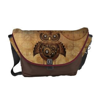 Steampunk Owl Vintage Style Messenger Bag