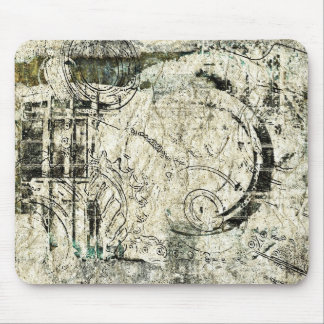 steampunk paper collage mouse pad