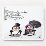 Steampunk Penguin Mousepad