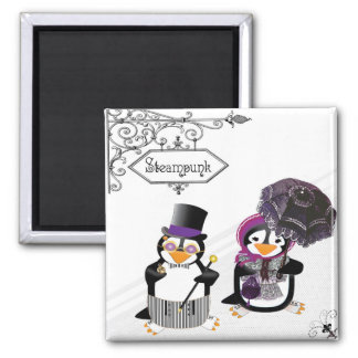 Steampunk Penguins Magnet