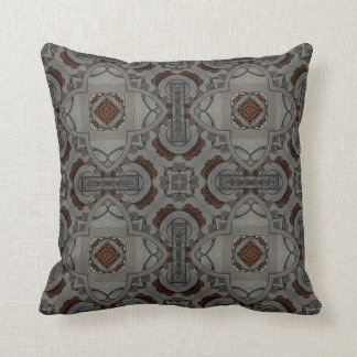 Steampunk Pewter Cogs II Throw Pillow