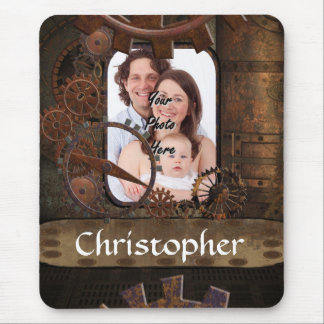 Steampunk photo background mouse pads