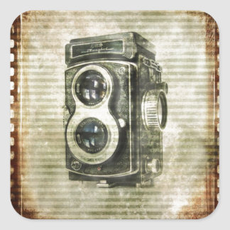 steampunk photographer photography Vintage Camera Square Sticker