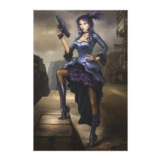 Steampunk Pirate lady Stretched Canvas Prints