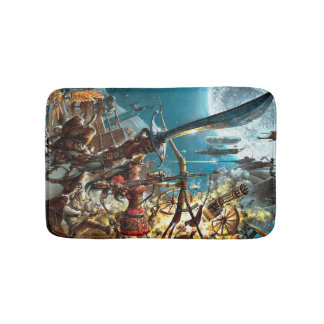 Steampunk Pirates Bath Mats