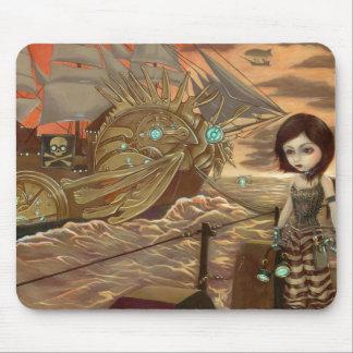 Steampunk Pirates:  Maritime Sunset Mousepad