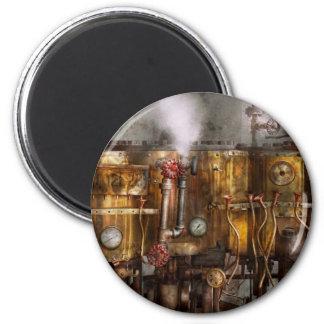 Steampunk - Plumbing - Distilation apparatus 6 Cm Round Magnet