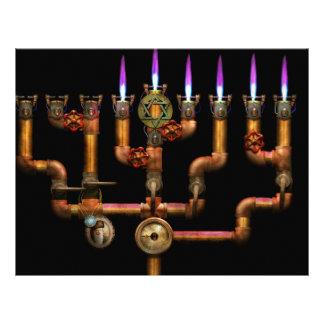 Steampunk - Plumbing - Lighting the Menorah 21.5 Cm X 28 Cm Flyer
