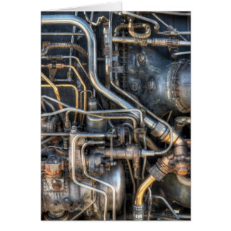 Steampunk Plumbing Pipes Card