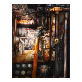 Steampunk - Plumbing - Pipes Full Color Flyer