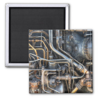 Steampunk Plumbing Pipes Square Magnet
