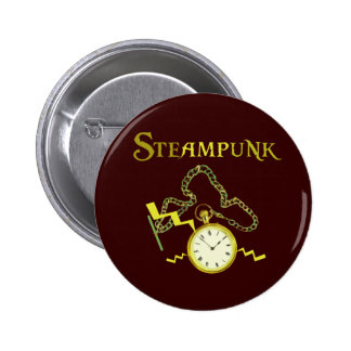Steampunk Pocketwatch 6 Cm Round Badge
