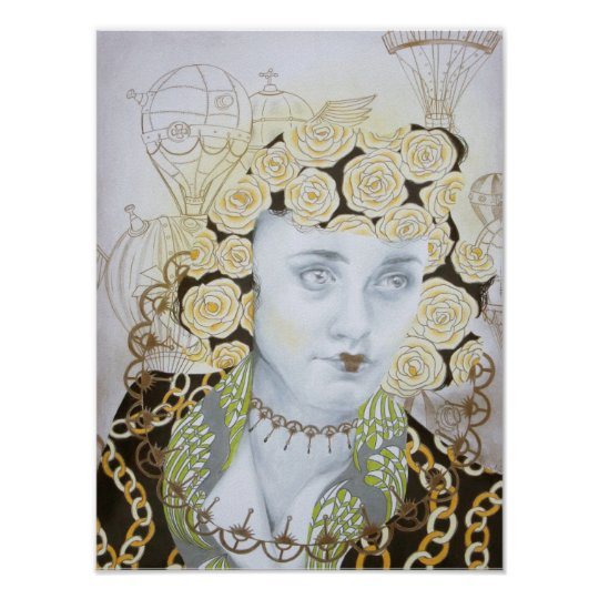Steampunk Portrait Victorian Fashion Art Poster
