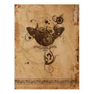 Steampunk Postcard