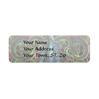 Steampunk - Pretty as a peacock Return Address Label