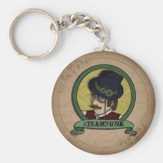 Steampunk Prince, keychain Basic Round Button Keychain