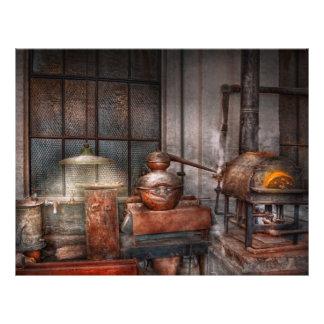 Steampunk - Private distillery Flyer Design