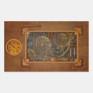 Steampunk Rectangular Sticker