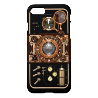 Steampunk Retro Stylish Black Vintage Camera iPhone 7 Case