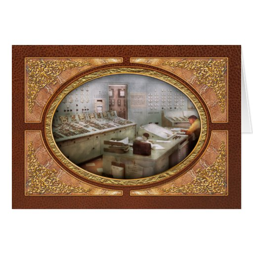 Steampunk - Retro - The power station Card