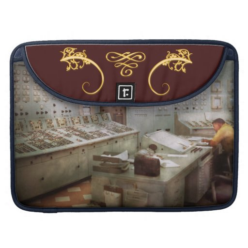 Steampunk - Retro - The power station Sleeves For MacBook Pro