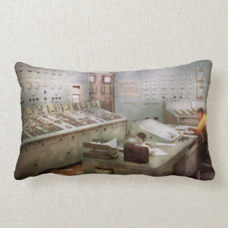 Steampunk - Retro - The power station Pillow
