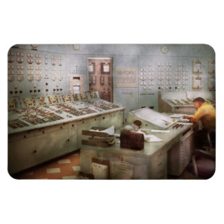 Steampunk - Retro - The power station Vinyl Magnet