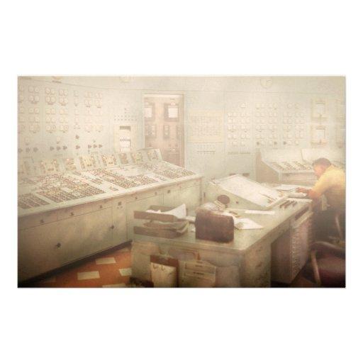 Steampunk - Retro - The power station Custom Stationery