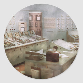 Steampunk - Retro - The power station Round Stickers