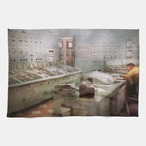 Steampunk - Retro - The power station Kitchen Towels