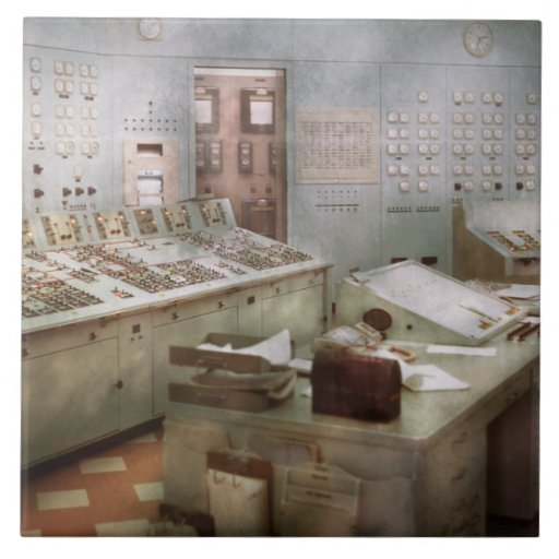 Steampunk - Retro - The power station Tiles