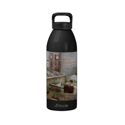 Steampunk - Retro - The power station Water Bottle