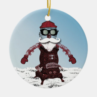 Steampunk Robot One Cool and Hip Santa Christmas Ornament