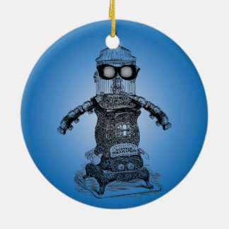 Steampunk Robot One Ornament By Artinspired