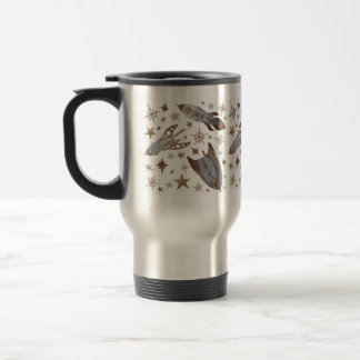 Steampunk Rockets Stainless Steel Travel Mug