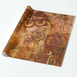 Steampunk Rose Wrapping Paper