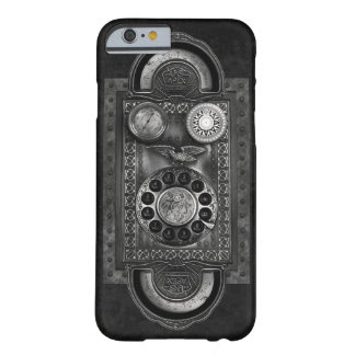 Steampunk Rotary Dial, Vintage Style, Steel Grey Barely There iPhone 6 Case