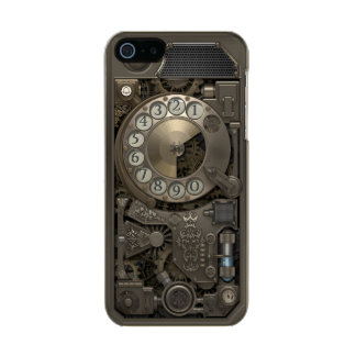 Steampunk Rotary Metal Dial Phone. Incipio Feather® Shine iPhone 5 Case