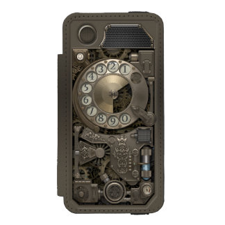 Steampunk Rotary Metal Dial Phone. Incipio Watson™ iPhone 5 Wallet Case