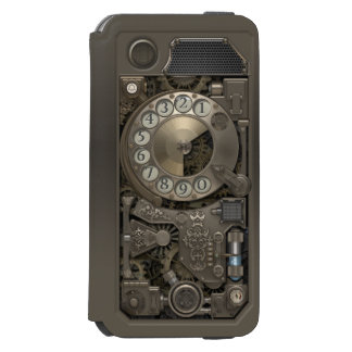 Steampunk Rotary Metal Dial Phone. Incipio Watson™ iPhone 6 Wallet Case