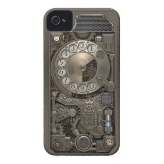 Steampunk Rotary Metal Dial Phone. iPhone 4 Case