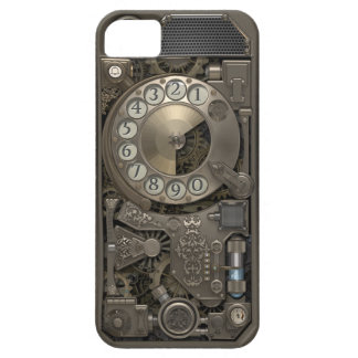 Steampunk Rotary Metal Dial Phone. iPhone 5 Cover