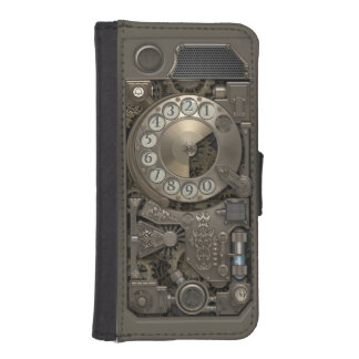 Steampunk Rotary Metal Dial Phone. iPhone SE/5/5s Wallet Case